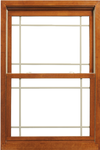 Aeris Wood with Vinyl Double Hung Window