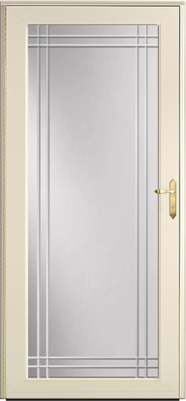 Decorator storm door 595