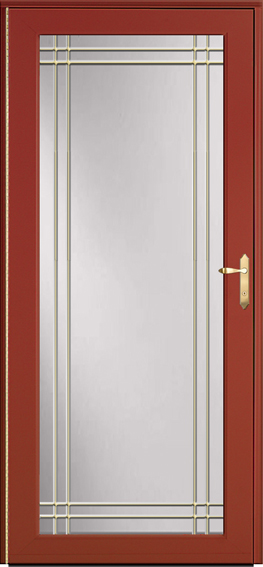 Decorator storm door 595-B