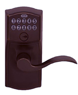 Aged Bronze Accent Lever Electronic Lockset
