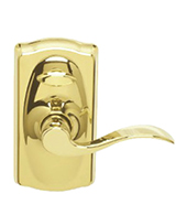 Bright Brass Interior Accent Lever Electronic Lockset