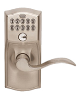Satin Nickel Accent Lever Electronic Lockset