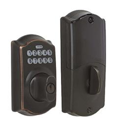 Aged Bronze Schlage Home Keypad Deadbolt