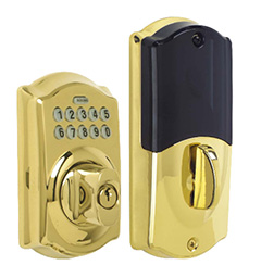 Bright Brass Schlage Home Keypad Deadbolt