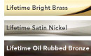 available in these finishes for Emtek