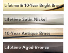 available in these finishes for Schlage