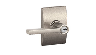 Latitude Lever with Century Trim Keyed Lockset