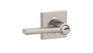 Latitude Lever with Collins Trim Keyed Lockset
